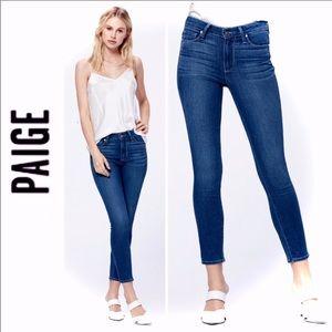 PAIGE Hoxton Crop High Waisted Skinny Jeans SZ 28